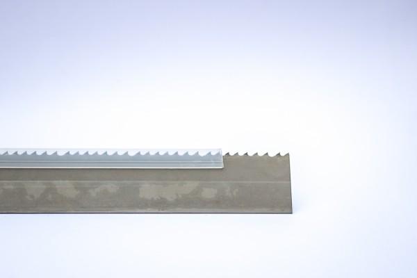 Kantenschutzprofil aus PVC, Zahnschutz Sägeband, weiß, flexibel